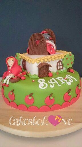 #Redridinghood #cake #roodkapje #taart #apple #appels #wolf #verjaardag