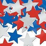 Star Table/Invite Confetti - Red, White and Blue