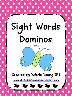 Sight Words Dominoes
