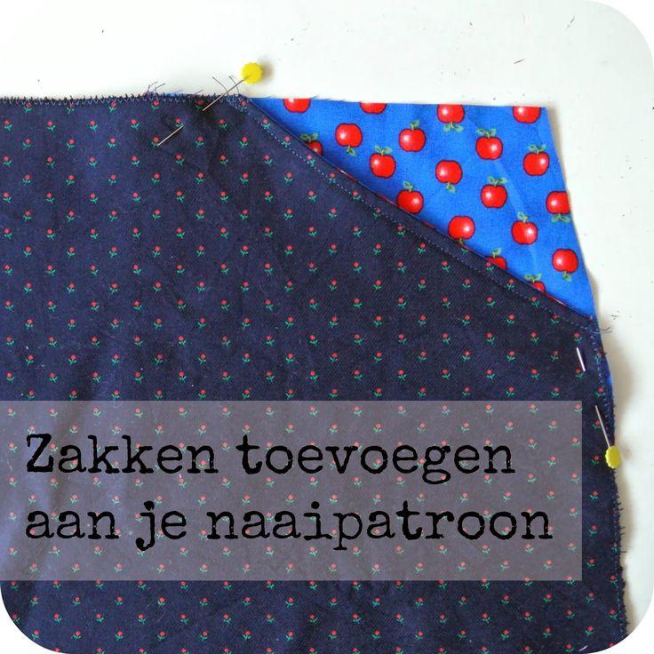 Sew Natural Blog: NaaiTechniek: een Zak toevoegen aan je Patroon