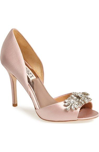 Badgley Mischka 'Giana' Satin d'Orsay Pump (Women) available at #Nordstrom