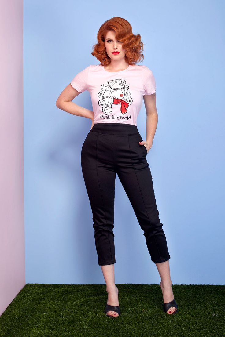 Traci Lord's Beat it Creep T-shirt in Pink | Pinup Girl Clothing