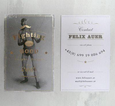 Creative business card for Felix Auer