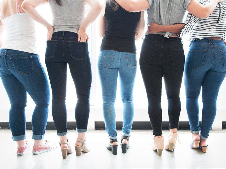 From left to right  Old Navy Curvy Mid-Rise Skinny Jeans for Women  Gap  Super High Rise True Skinny Jeans  Levi s 710 Super Skinny  NYDJ Ami Skinny  Legging  ... 7d860355a4