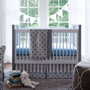 Black And Grey Boy Crib Bedding