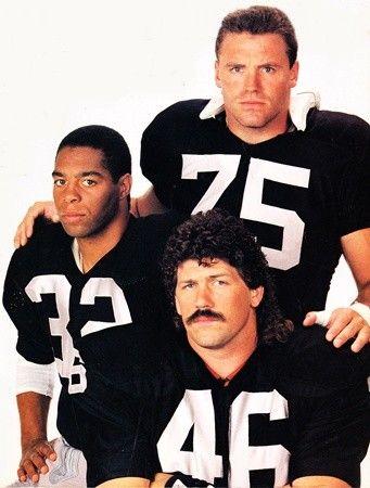 Todd Christensen, Marcus Allen, Howie Long - Raiders