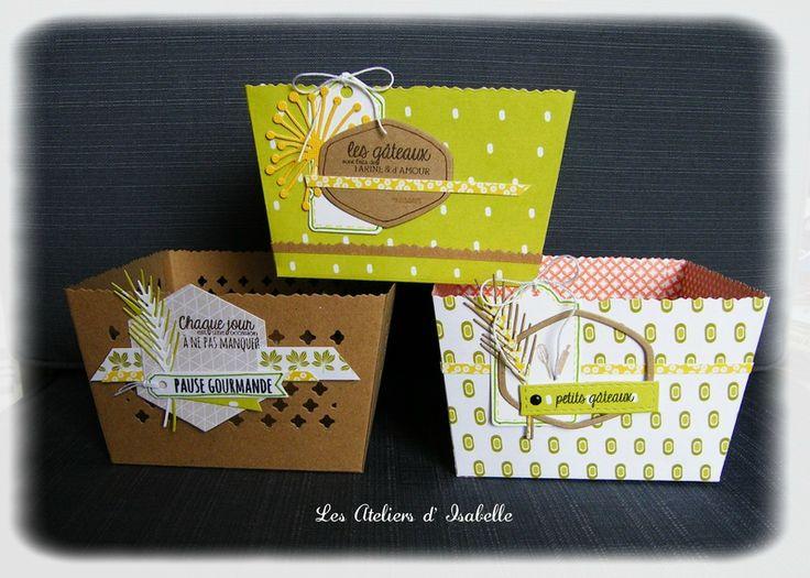 Panier cadeau scrap pour gâteaux apéro ou autre. A personnaliser !