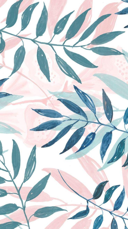 Spring Summer Floral Leaves Palm Wallpapers Vintage Iphone