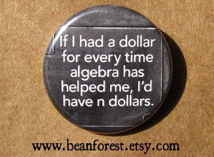 algebra n dollars math magnet math gifts math by beanforest