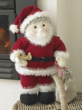 Stor, strikket julemand | Familie Journal