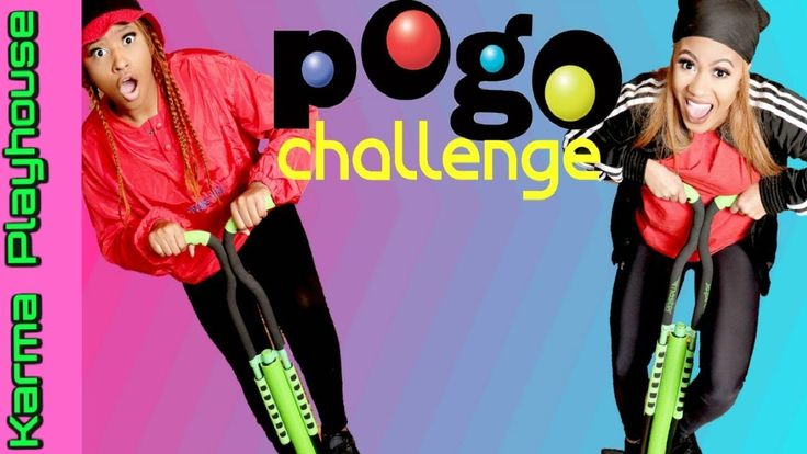 POGO STICK CHALLENGE Best Friends Bounce Jump Battle Karma Playhouse