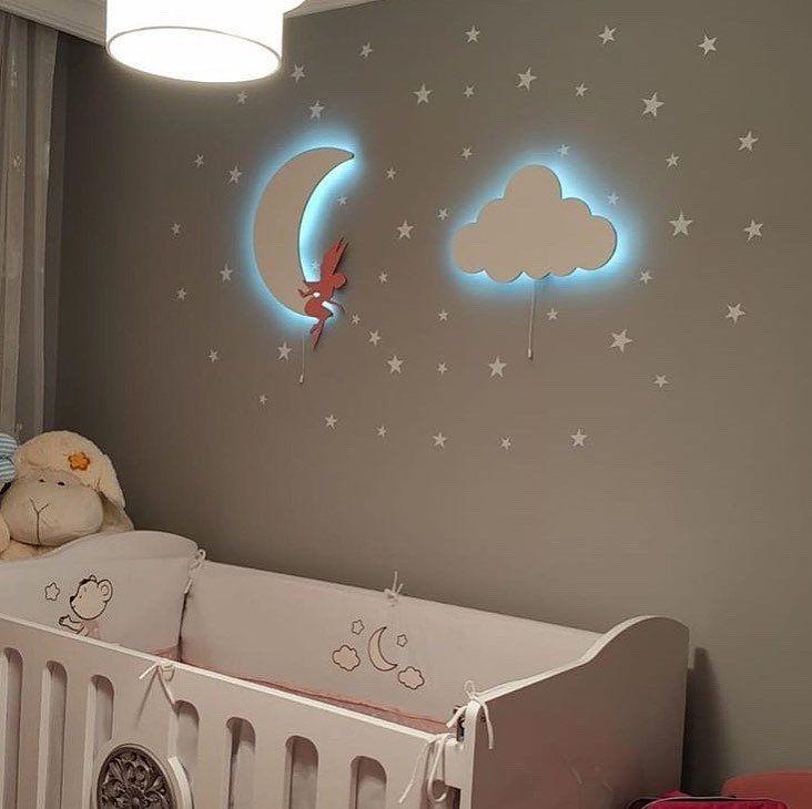 Set Of 2 Nursery Wall Light Nursery Lighting 1 Fairy Girl Etsy In 2020 Nursery Lamp Cloud Nursery Theme Nursery Lighting