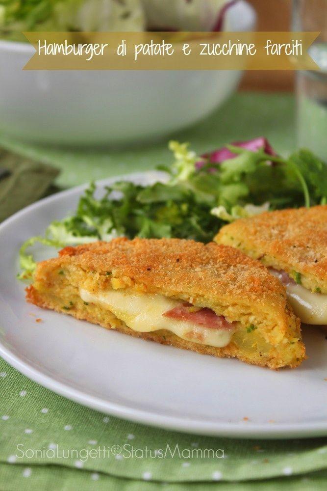 Hamburger di patate e zucchine farciti ricetta cucina per bambini famiglia economica veloce Statusmamma Gialloblogs Statusmamma secondo ©StatusMamma