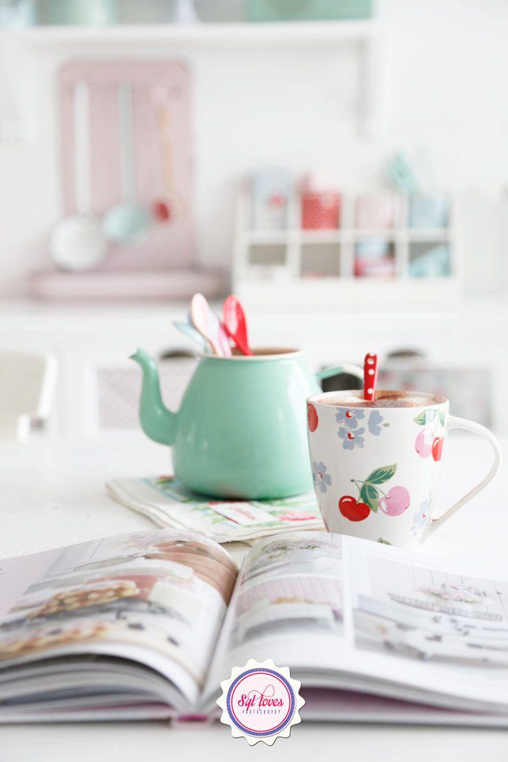 Syl Loves Cath Kidston Mint Minty Teatime Red Vintage