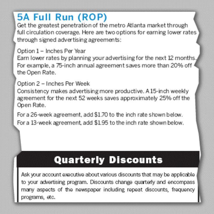Understanding Advertising Rate Cards: ROP - Full Run of Paper