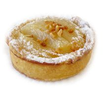 Almond Pear Tart - Pears baked in light almond cream encased in pastry. www.cassis.co.za