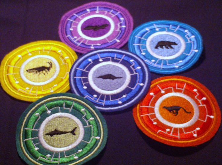 Wild Kratts Embroidered Power Disc - Set of 6. $25.00, via Etsy.