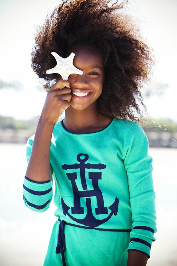 Summer kids fashion. Tommy Hilfiger Fall2013 dress. Styling by Robyn Goldberg. Photo by Denise Crew. Zuri Models