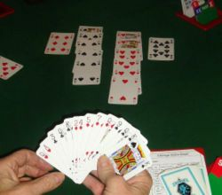 Contract bridge, or simply bridge, is a trick-taking game using a standard deck of 52 playing cards. It is played by four players in two competing partnerships,[1] with partners sitting opposite each other around a table.[2] Millions of people play bridge worldwide in clubs, tournaments, online and with friends at home, making it one of the world's most popular card games. Try rhis for fun and use your brain@ home.