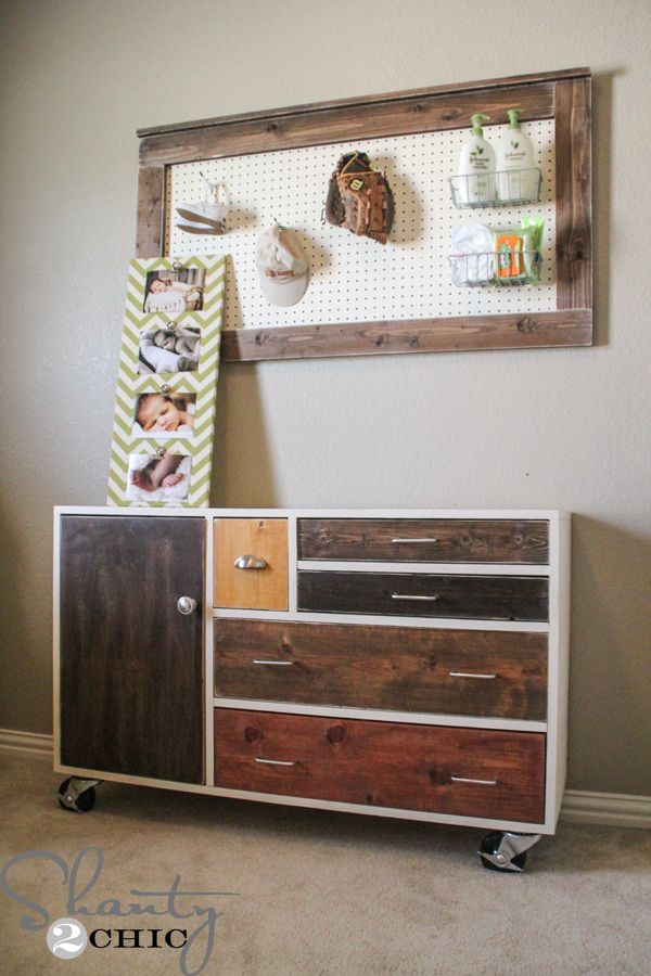 DIY Dresser on Casters - Noah Knock off Decor #DIY Knock Off Pottery Barn
