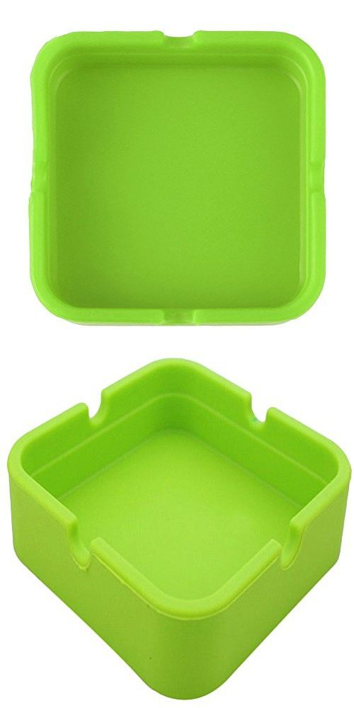 Homeleii Fashion Cigarette Ashtray Outdoors Indoors Ash Tray Ash Holder for Smokers Home Office Decor (Green)