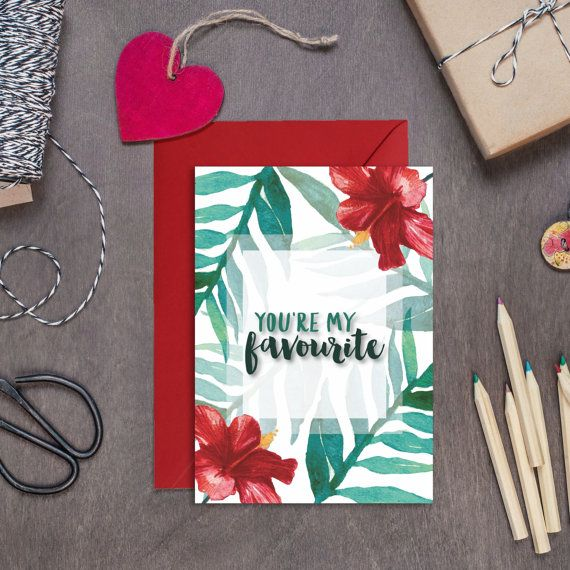 You're My Favourite Card  Valentines Card  Anniversary