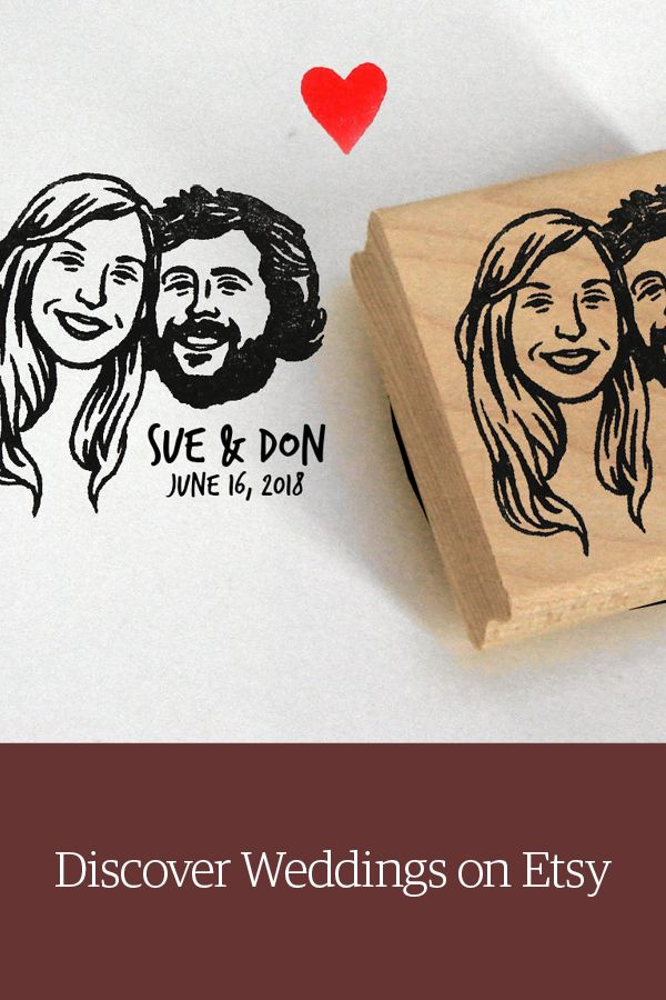 Personalized couple portrait st& for save the dates custom favors u0026 gifts. Shop weddings on Etsy.  sc 1 st  Pinterest & Personalized couple portrait stamp for save the dates custom favors ...