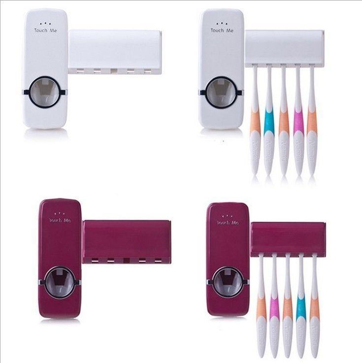 Shower Dust Proof Toothpaste Dispenser Automatic Bath Bathroom Accessories Set #BAISPO