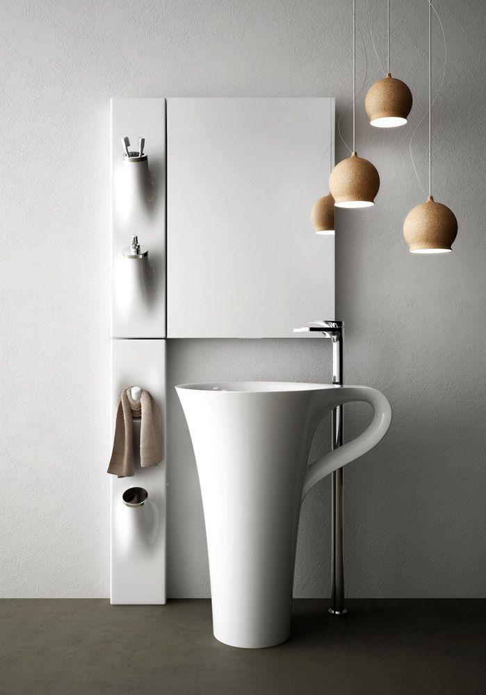 Accessori bagni moderni mobile arredo bagno sospeso - Ikea porta scopino ...