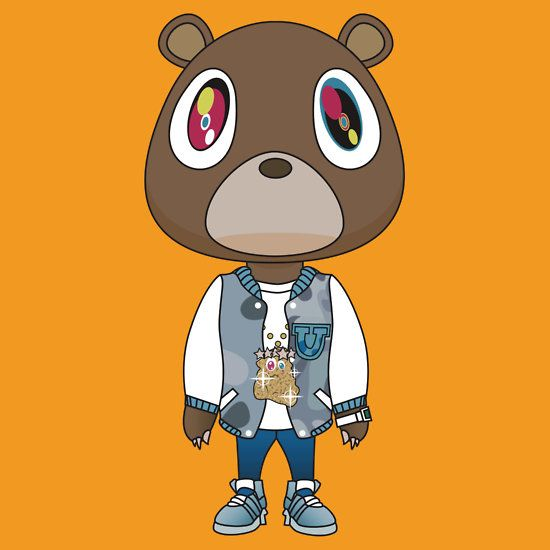 Cartoon kanye west bear