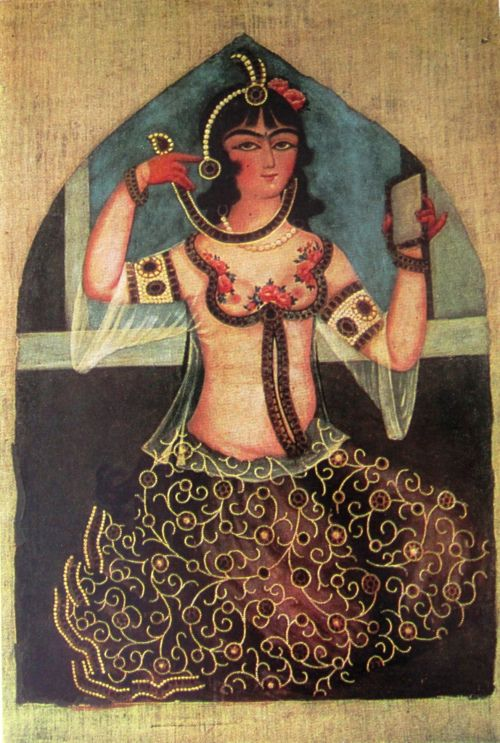 You carry all the ingredients to turn your existence to Joy. Mix them! Mix them! - Persian woman with a mirror (Qajar Dynasty, Iran, c.1880)