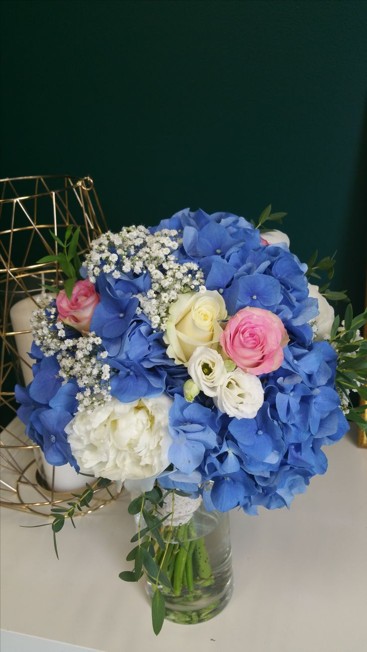 Bouquet de mariée bleu et pastel par Déco Ré Majeur