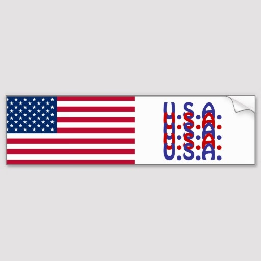 flag bumper stickers