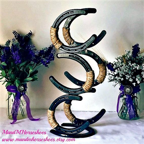 New Horseshoe Wine Rack Horseshoe Wine Rack by MandMHorseshoes