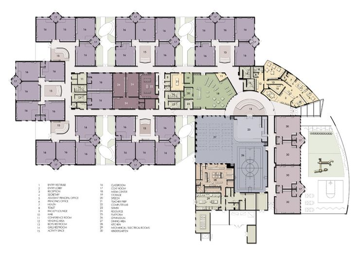 Elementary school floor plans floor plan elementary for Small daycare floor plans