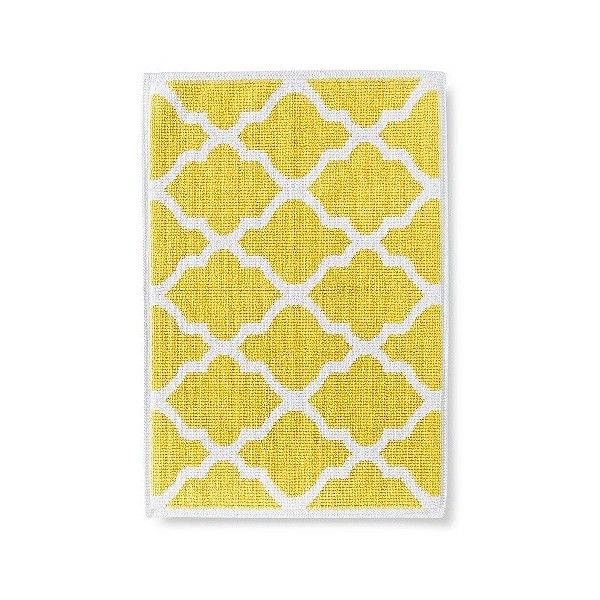 Woven Bath Mat ($16) ❤ liked on Polyvore featuring home, bed & bath, bath, bath rugs, beehive yellow, threshold bathroom rugs, yellow bathroom rugs, yellow bath mat, threshold bath rug and woven bath mat