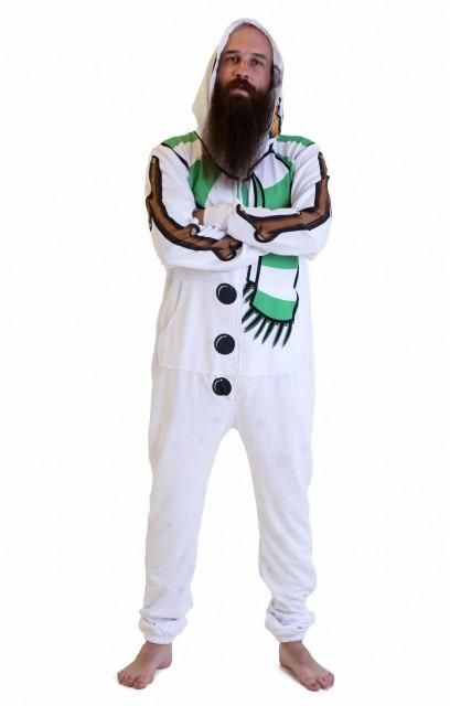 A snowman onesie from Katy Perry's 'Beloved' clothing brand
