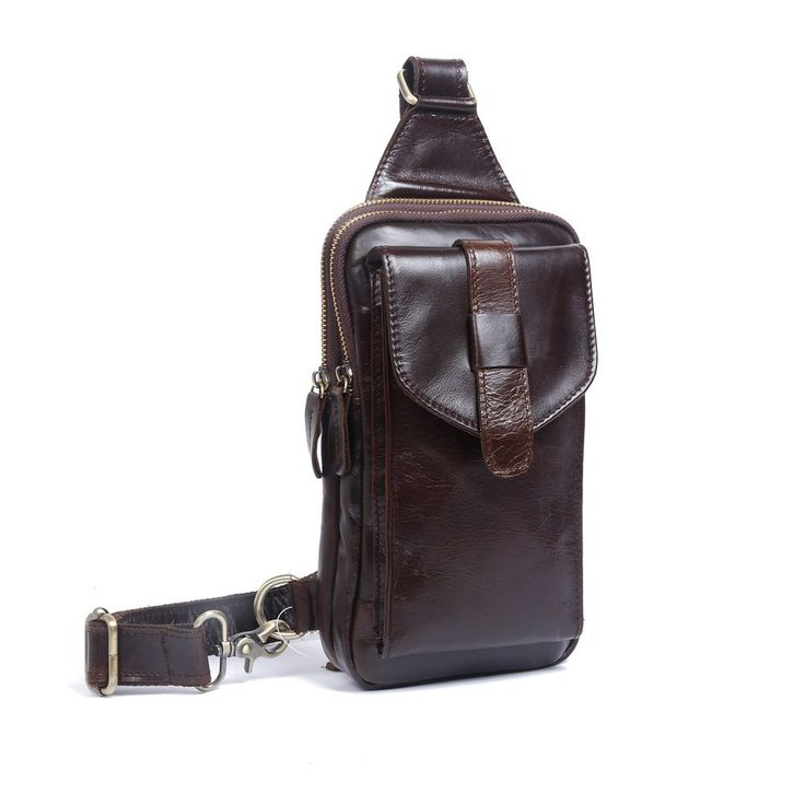 Overview: Design: Genuine Leather Mens Cool Chest Bag Sling Bag Crossbody Bag Travel Bag Hiking Bag for menIn Stock: Ready to Ship(2-4 days)Include: OnlyBagC