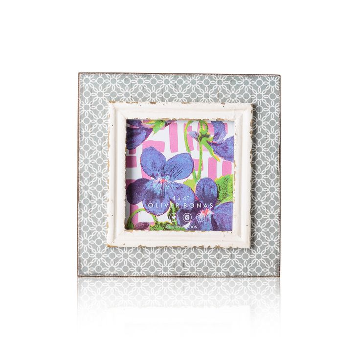 Add instant colour and print to your room with our Grey Geo Brights Frame - £12