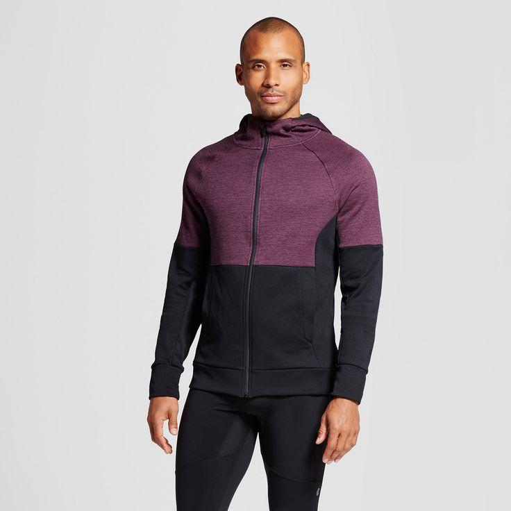 Men's Tech Fleece Full Zip Hoodie - C9 Champion Burgundy (Red) Blazer Heather M