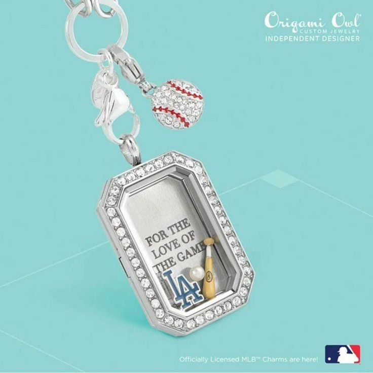 LA #Dodgers #MLB fan #Gift from Origami Owl® All Licensed Major League #Baseball Charms available. #LADodgers #MajorLeagueBaseball