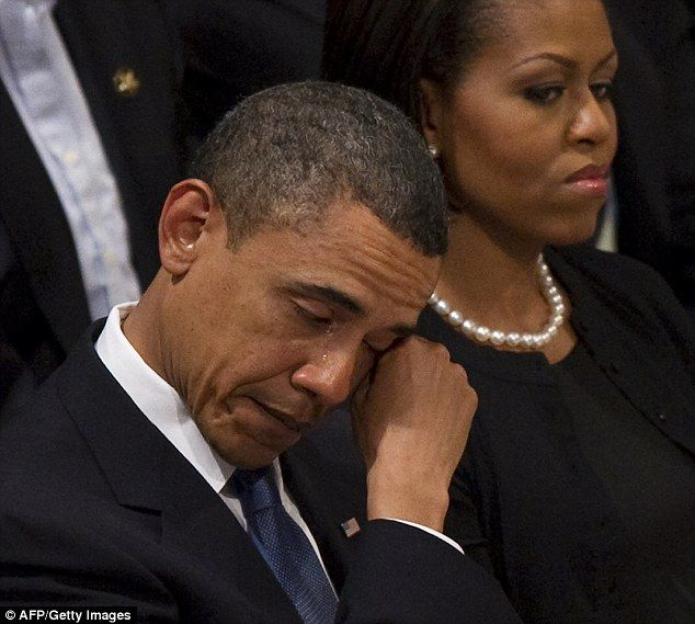 Obama breaks down in tears at funeral of 'Godmother' of American civil rights…