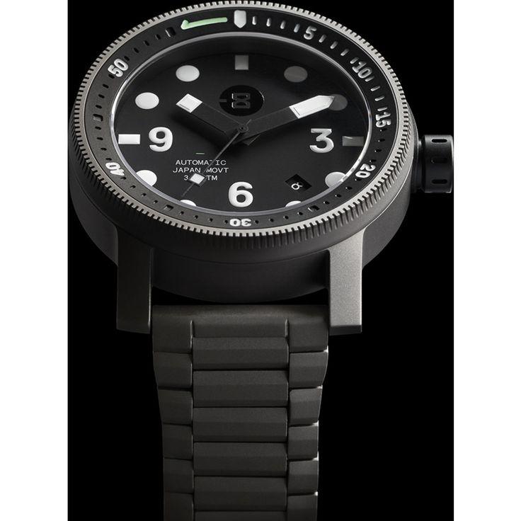 MINUS-8 Diver Gunmetal/Black Watch | Titanium P024-013-TI-ML