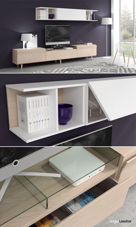 Muebles · egelasta · live · mueble · madera · moderno · comedor · roble nórdico · laca blanco