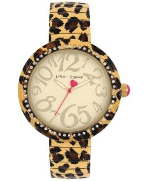 Betsey Johnson Women's Brown Leopard Printed Stainless Steel Bracelet Watch 43mm BJ00626-02 - Leopard