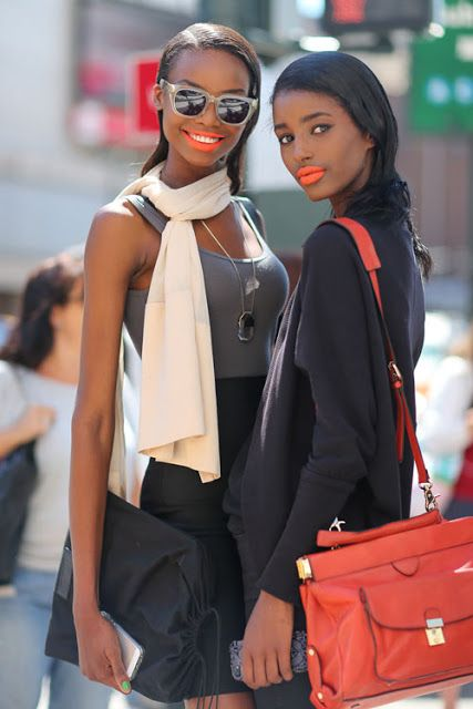Bold Street Style Beauty Looks At New York Fashion Week Spring 2014. #fashion #NYFW #Makeup
