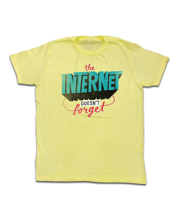 Chris Piascik​ Yellow Heather The Internet Doesn't Forget Tee