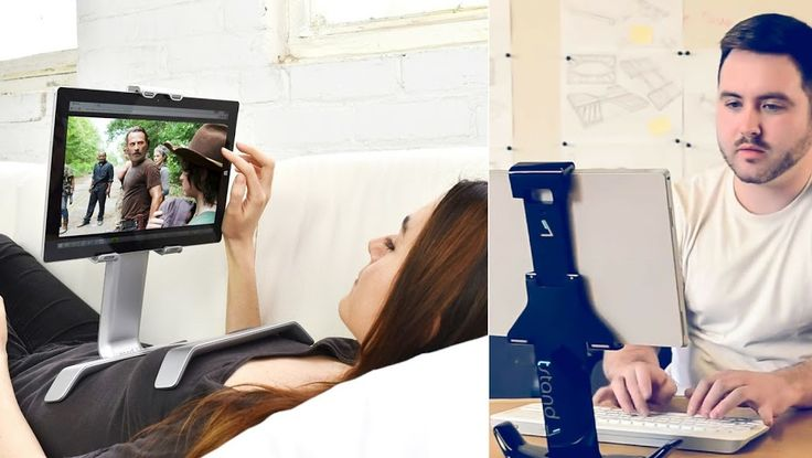 Use tstand iPad holder in bed or desktop mode. Thanks to it's patented reversible H-shaped base, tstand can be taken & used anywhere. It's especially great for Netflix binges! ;)  #ipadholder #ipadstand #tabletholder #cooltech #gadget