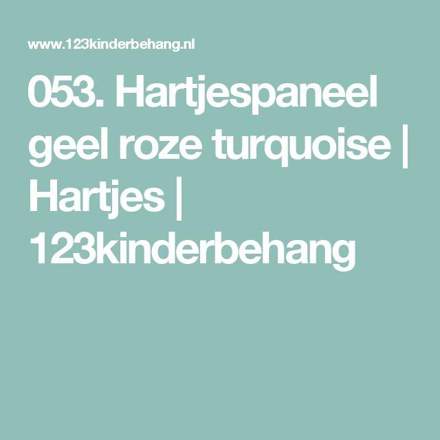 053. Hartjespaneel geel roze turquoise | Hartjes | 123kinderbehang