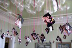 DIY | Raumdeko für Hochzeiten | Ballons mit Fotos | schwebende Heliumsballons | Empfohlen von Himmelreich Fotografie